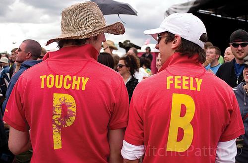 Touchy feely guys