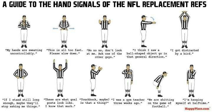 Replacement Ref Hand Signals Guide