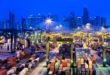 Singapore, PSA cargo container handling facility.