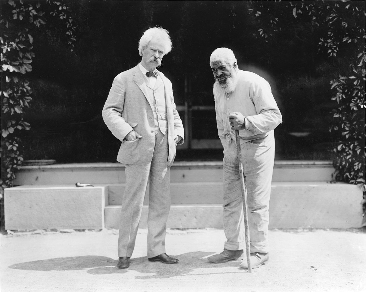 Mark Twain with old friend John T. Lewis