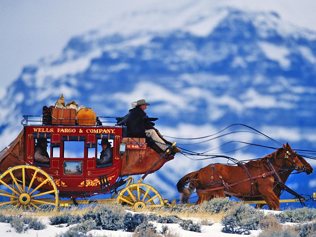 Wells Fargo bandits running hooch across the Rocky Mountains