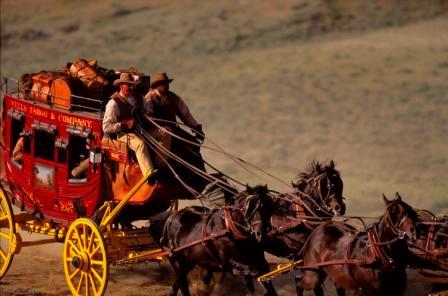 Wells Fargo bandits running bootleg liquor in the wild west
