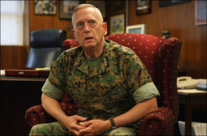 Lt. Gen. James Mattis in his office at Camp Pendleton Tuesday during an interview. BILL WECHTER Staff Photographer Order a copy of this photo <!-- More of this story --> Visit our Photo Gallery