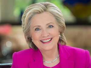 Former Secretary of State Hilary Clinton