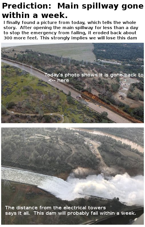 Possible Fake News Story Regarding Oroville Dam: THE CITY OF TULARE