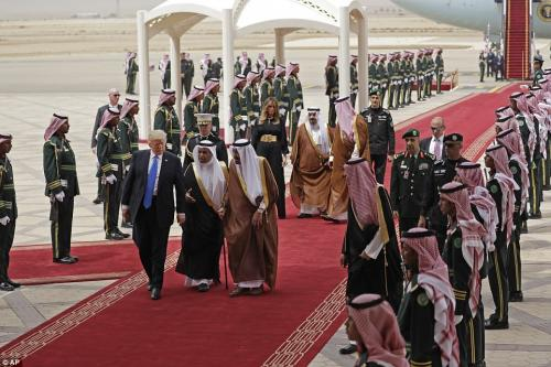 saudiTrump - Trump Inks Largest Arms Deal in U.S. History with Country He Said Funded ISIS