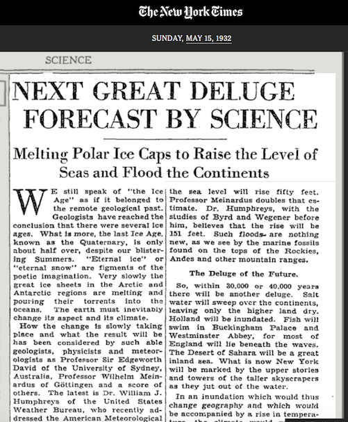 Reminder: Experts Have Been Warning Us About Global Warming Since the 1930s