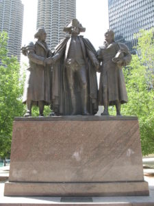 Shitcago Bishop calls for removal of a George Washington statue from a city park.