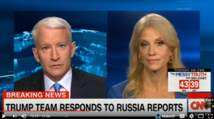 Kellyanne Conway Takes Anderson Cooper To Task Over CNN Role In 35 Page Hoax Document