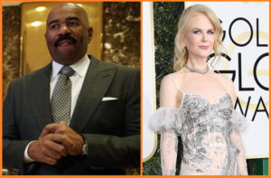 Media Betrayal: Steve Harvey Given Uncle Tom Treatment After Trump Meeting, Nicole Kidman Suffers Pizza-Themed Hit Piece