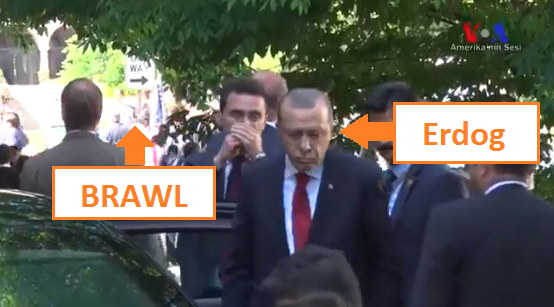 erdy2 - Followup: Erdogan Chills Nearby While His Bodyguards Assault Embassy Protesters
