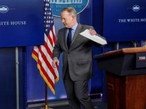 Sean Spicer Quits As WH Press Secretary After Scaramucci Appointment